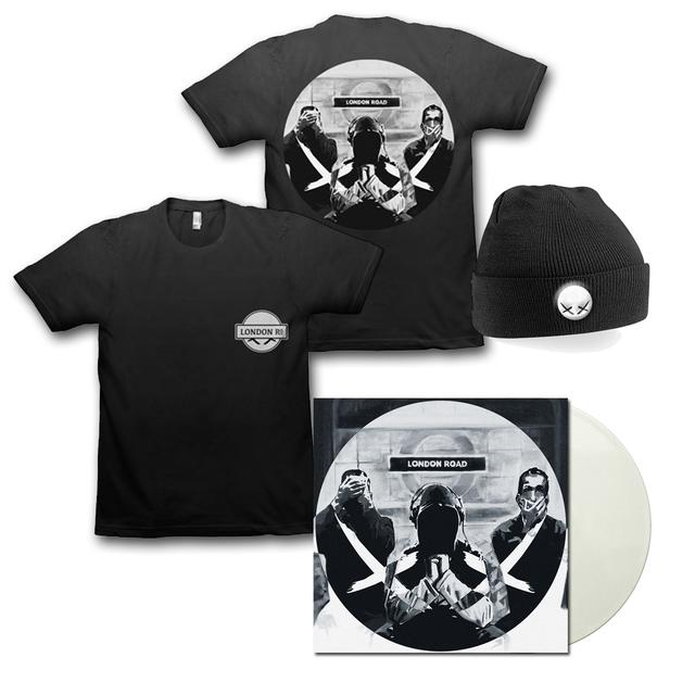 Modestep London Road White Vinyl + T-Shirt + Beanie Bundle