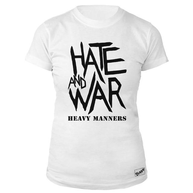 The Clash Wht Hate & War Ladies T-shirt