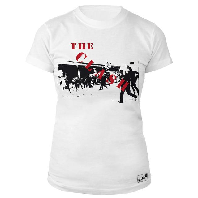 The Clash Wht 1st Ever Ladies T-shirt