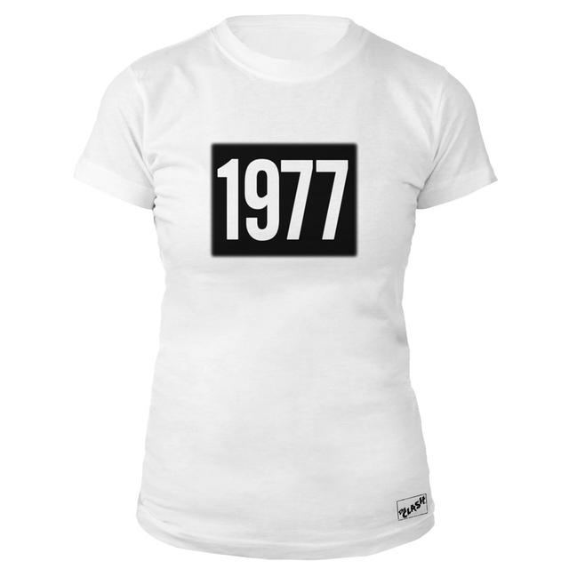 The Clash Wht 1977 Ladies T-shirt