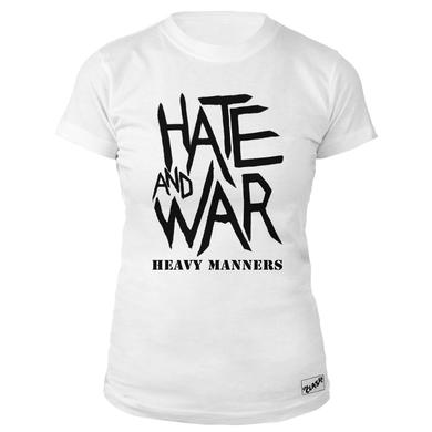 The Clash Wht Hate & War Ladies T-shirt