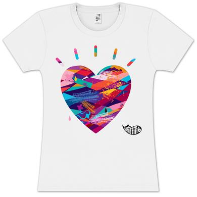 Graffiti6 Heart Logo Womens T-Shirt on White
