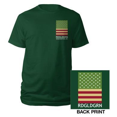 RDGLDGRN Green DC Flag Tee