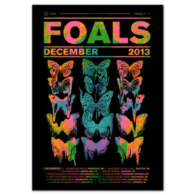 Foals Neon Butterfly Poster