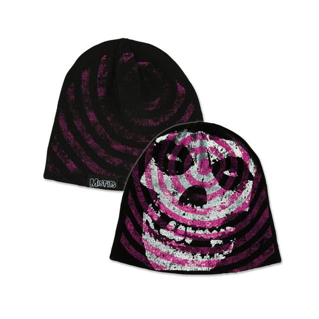 The Misfits Purple Spiral Skull Beanie e7694ae95cf