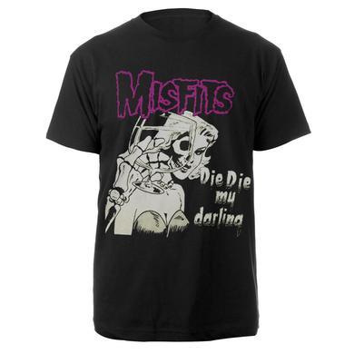 Misfits Die Die My Darling Black Tee