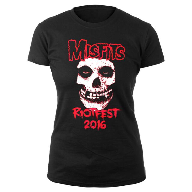 Women's Misfits  Skull Riotfest 2016 Chicago Tee