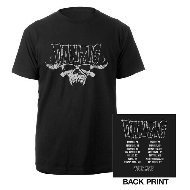 Danzig Skull 2015 Itinerary T-Shirt