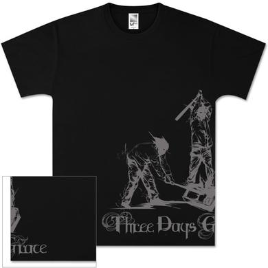 Three Days Grace Media Beat Down Black T-Shirt