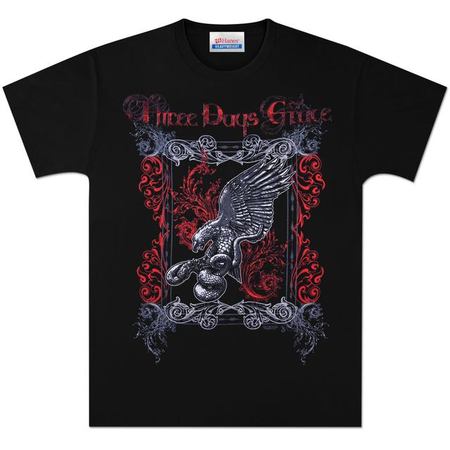 Three Days Grace Snake Bird Flourish T-Shirt