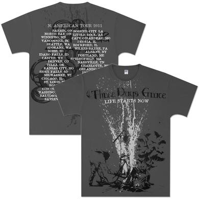 Three Days Grace Beatdown 2011 Tour T-Shirt