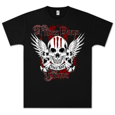 Three Days Grace 3 Days Skulls T-Shirt
