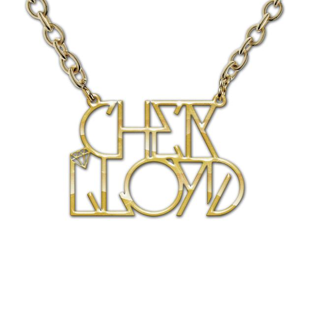 Cher Lloyd Logo Gold Necklace