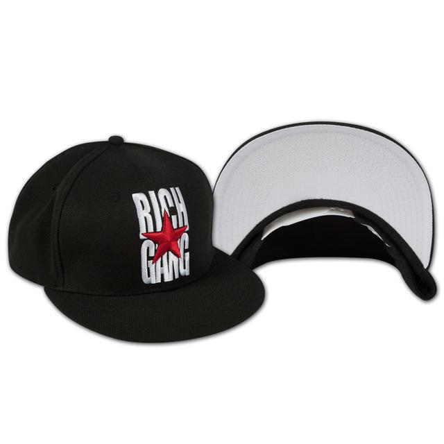 Rich Gang Logo Snap Back Hat In Black