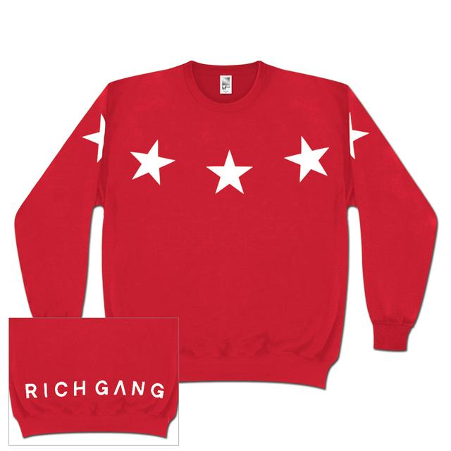 Rich Gang Five Star Sweatshirt In Cherry