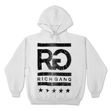 Rich Gang Snake Skin Logo Hoodie In White