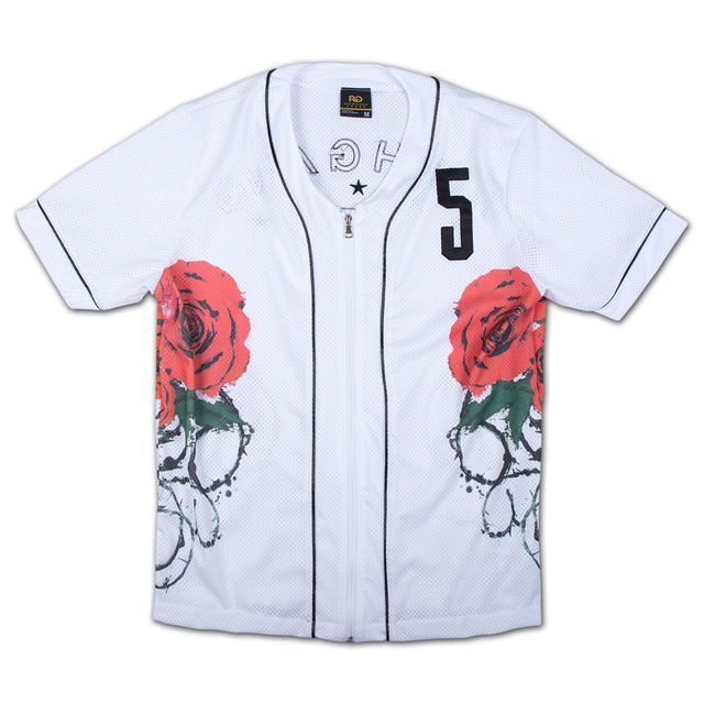 Rich Gang Roses Baseball Jersey