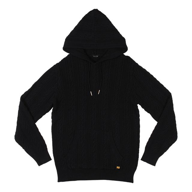 Rich Gang Cable Knit Hoodie