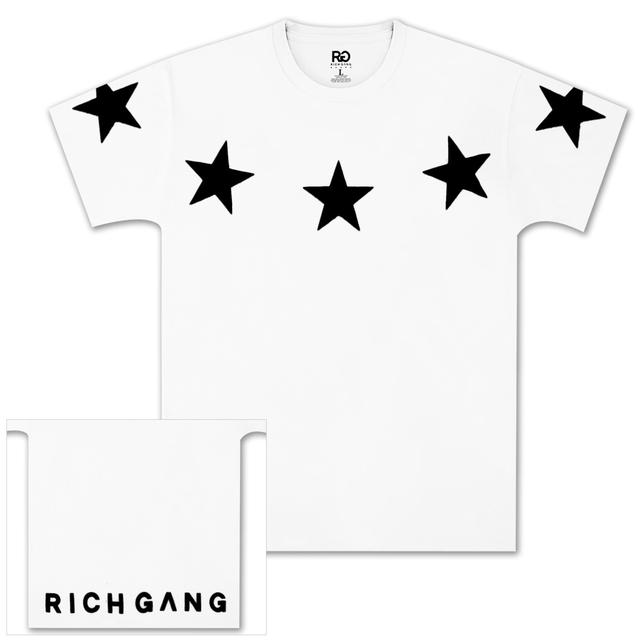 Rich Gang Five Star T-Shirt in White