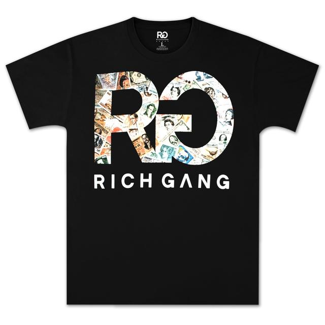 Rich Gang Euro Cash T-Shirt in Black