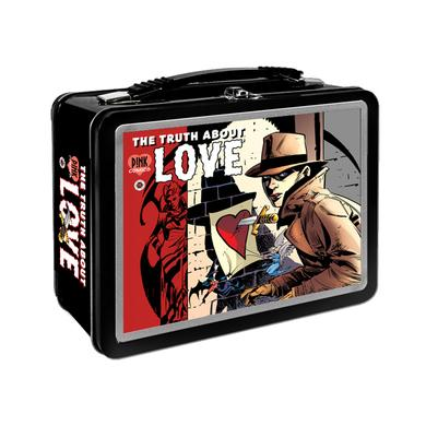 Pink Comic Cover Metal Lunchbox