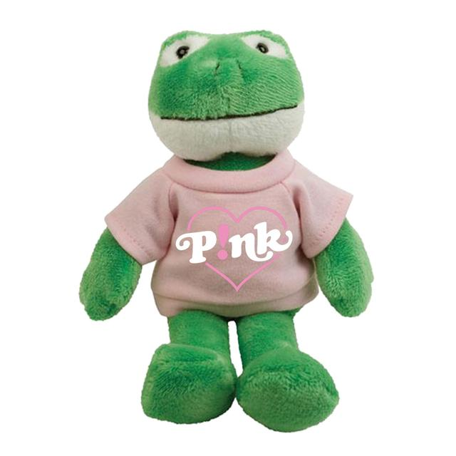 Pink Heart Plush Frog