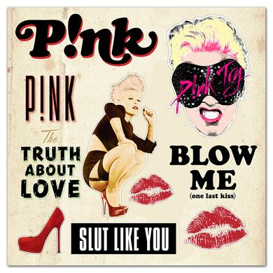 Pink P!nk Truth Sticker Sheet