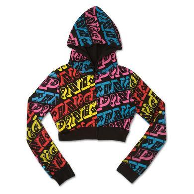 Pink Repeat Logo Black Hoodie