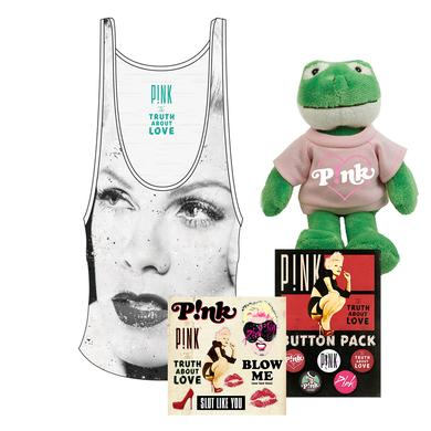 Pink Portrait Tank Bundle with FREE Plush Frog