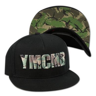 YMCMB Camo Logo Snapback Hat