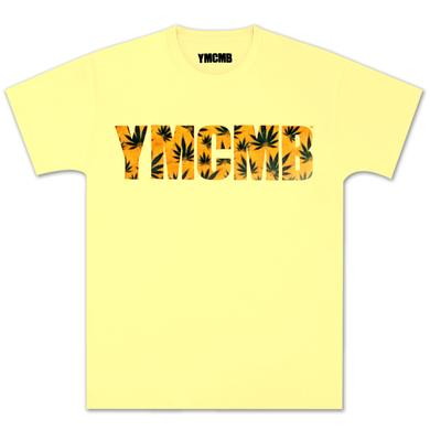YMCMB Hemp Stained Pot Leaf T-Shirt In Banana
