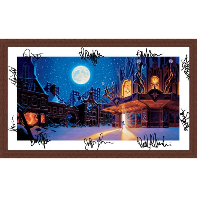 Trans-Siberian Orchestra Autographed Tiger Canvas 2006 (Framed)