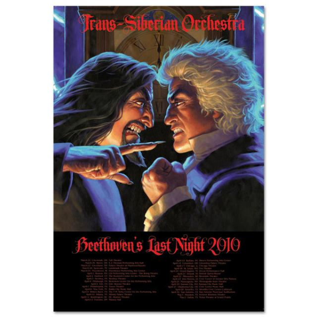 Trans-Siberian Orchestra 2010 Lightning Lithograph