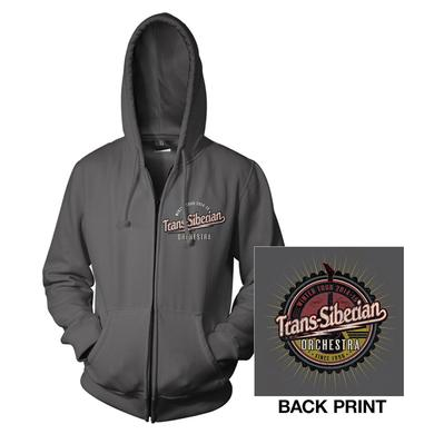 Trans-Siberian Orchestra Charcoal Gray TSO Zip-Up Hoodie
