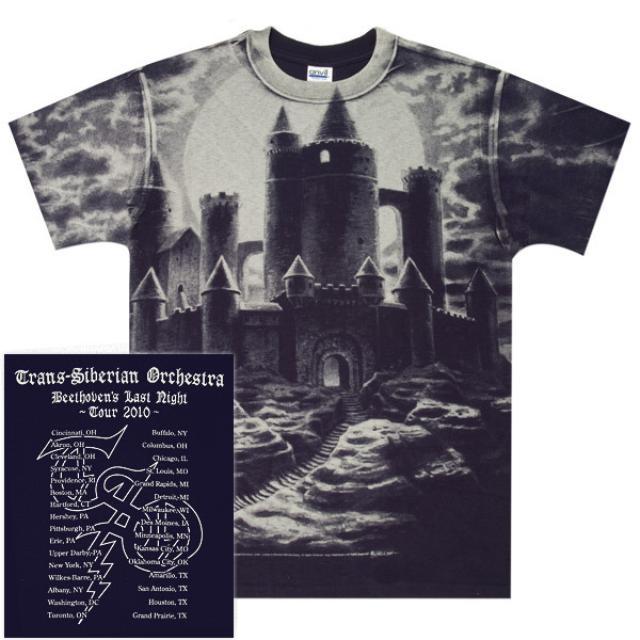 Trans-Siberian Orchestra Negative Castle Tour T-Shirt
