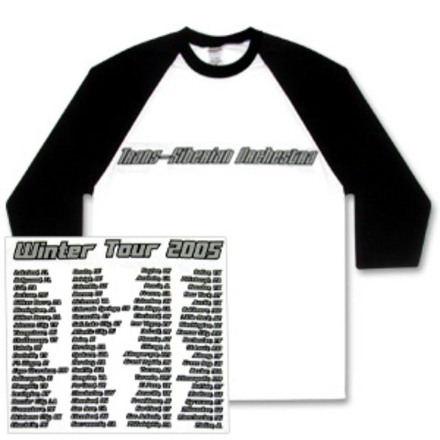 Trans-Siberian Orchestra Black/White Baseball Jersey