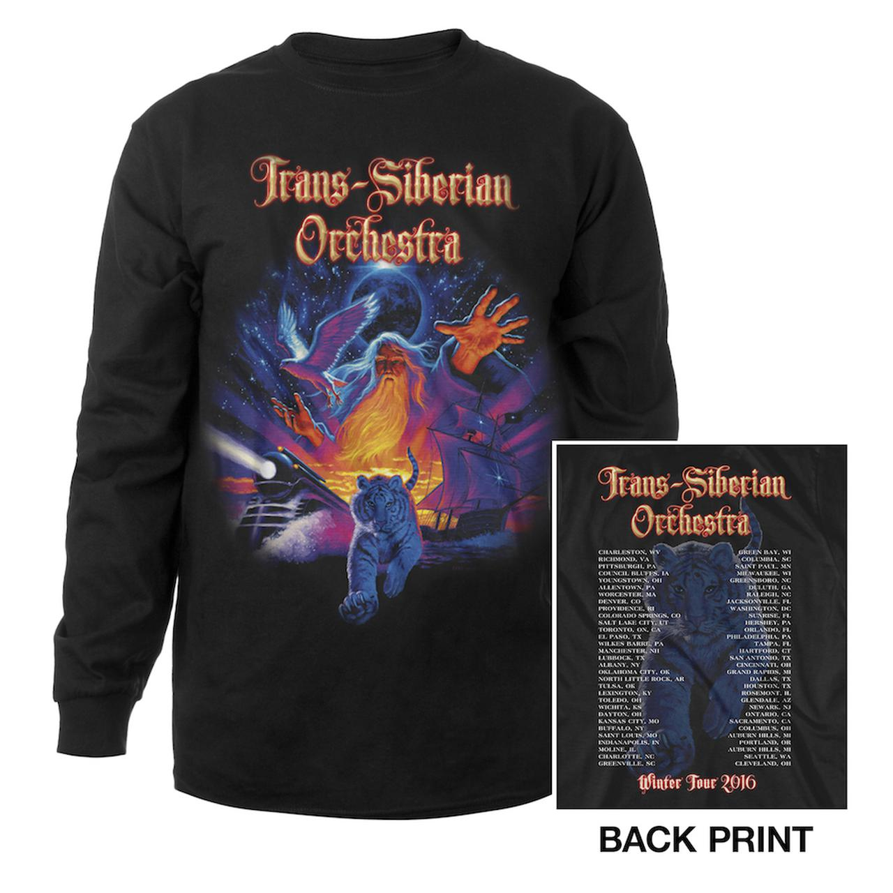 Trans Siberian Orchestra Tiger Collage Long Sleeve Shirt