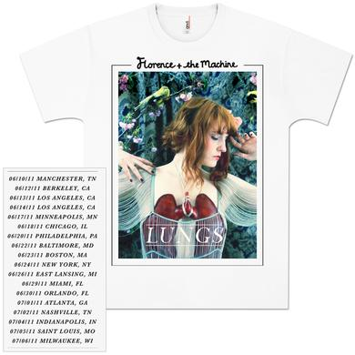 Florence and The Machine Lungs 2011 Tour T-Shirt