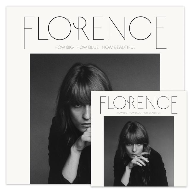 Florence and The Machine How Big, How Blue, How Beautiful Standard CD/Screenprint Bundle