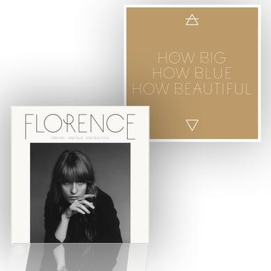 Florence and The Machine How Big, How Blue, How Beautiful Standard CD/Screenprint Bundle