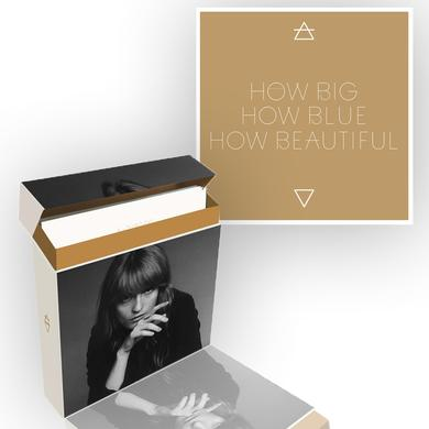 "Florence and The Machine How Big, How Blue, How Beautiful 7"" Vinyl Collector's Box/Screenprint Bundle"