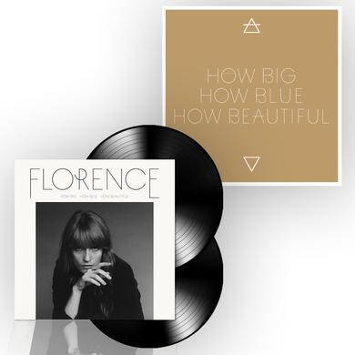 "Florence and The Machine How Big, How Blue, How Beautiful 12"" Vinyl/Screenprint Bundle"