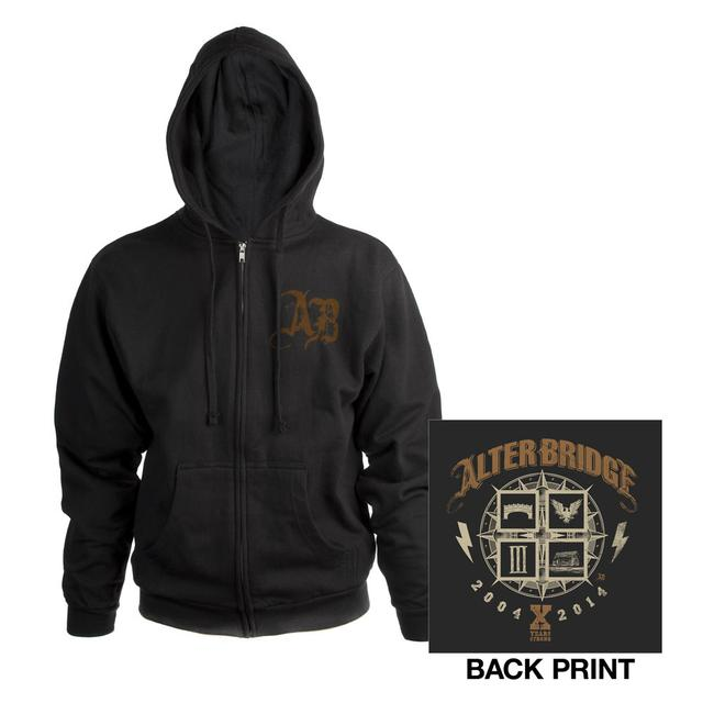 Alter Bridge 10 Years Zip-Up Hoodie