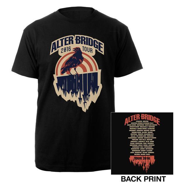 Alter Bridge Crow 2016 Tour Tee