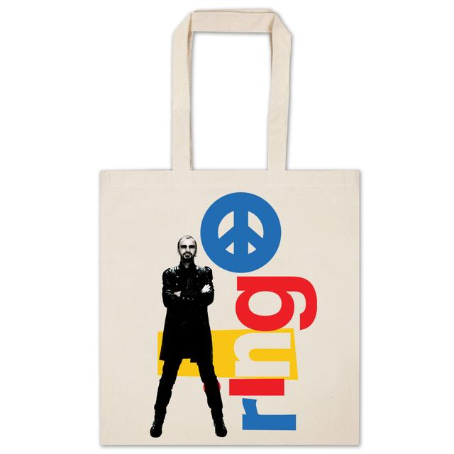 Ringo Starr Stacked Letters Tote Bag