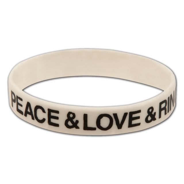 Ringo Starr Peace Love Rubber Bracelet