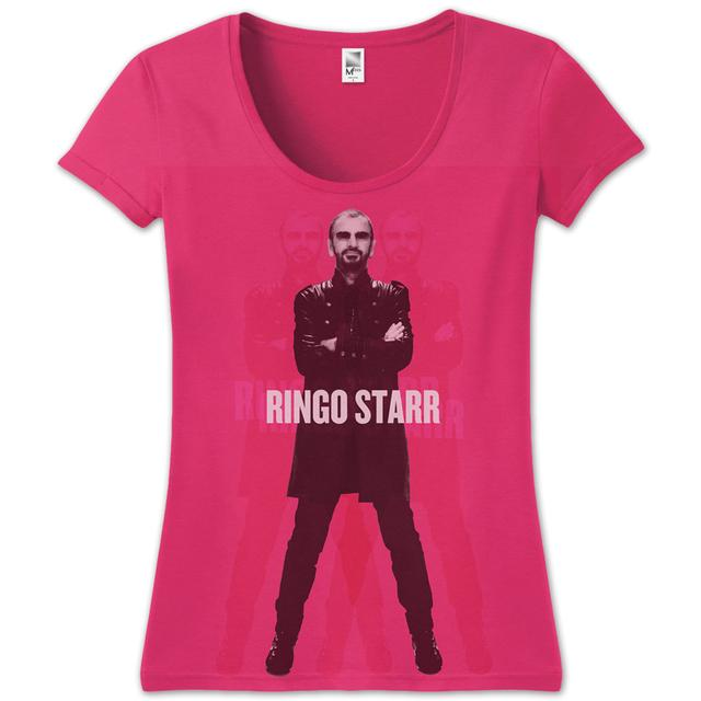 Ringo Starr Standing Jr T-Shirt - pink***