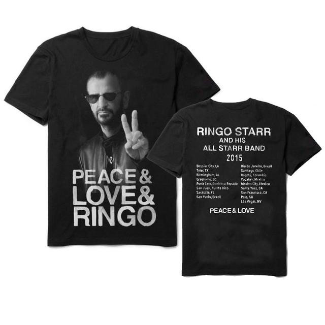 Ringo Starr PLR Photo Black Tour T-Shirt
