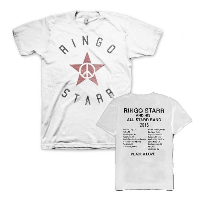 Ringo Starr Peace Star White Tour T-Shirt