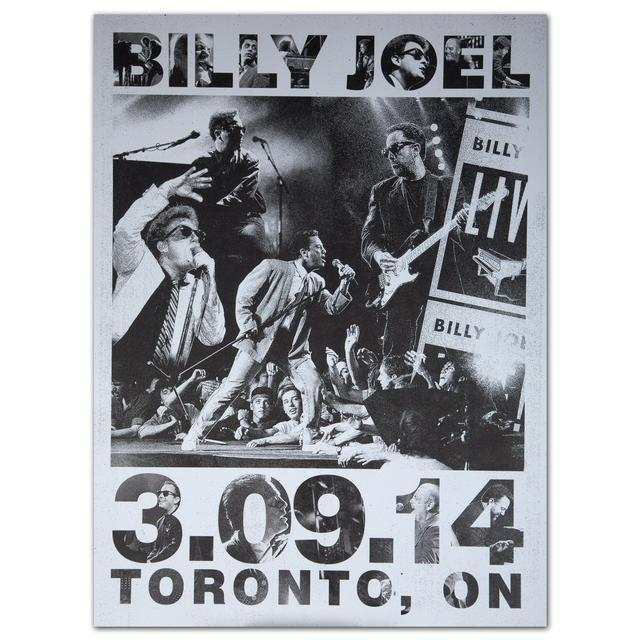 Billy Joel Event City Poster, Toronto, 3-9-14